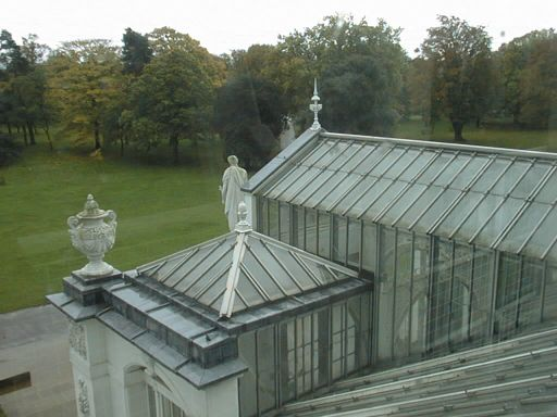 Looking out the Temperate House