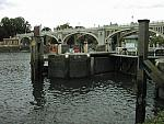 Weir with Lock in foreground